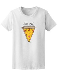 $enCountryForm.capitalKeyWord NZ - Cute Cartoon Smiling Pizza True Love Tee Tops Tees Printed Men T Shirt Print T-Shirt Summer Casual Top Tee Summer