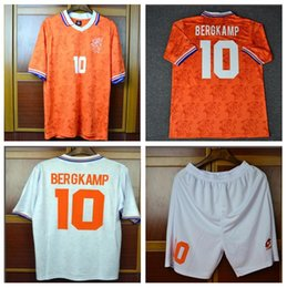 Discount netherlands jerseys - 94 96 Retro Soccer Jersey Netherlands  Bergkamp 1994 1996 2000 home away 550a05159