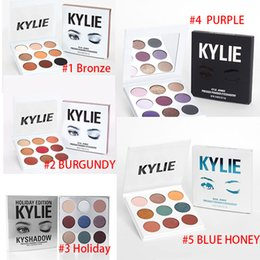 Matte shadow kit online shopping - Kylie Colors Cosmetics Kyshadow eye shadow Kit Eyeshadow BRONZE BURGUNDY BLUE HONEY Palette Holiday Purple Makeup eyeshadow