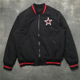 Discount men embroidered winter jackets - Mens Designer Winter Coat Star Embroidered Male Casual MA1 Bomber Jacket Autumn Striped Windbreaker Men Outerwear