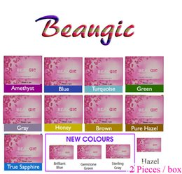 Fresh beauty online shopping - Beauty Magic Beaugic High performance Real color fresh color Tone contact lenses box pc pair Contact lens cases