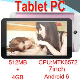 4.7 Capacitive Australia - 7inch Tablet PC Dual-core MTK6572A Android 6.0 Strong Capacitive 512MB RAM 4GB ROM WIFI Bluetooth 3G Camera CORTEX-A7 CPB-4