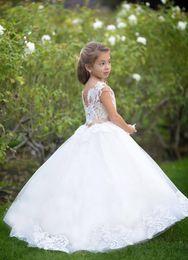 $enCountryForm.capitalKeyWord NZ - Pageant Kids Gown Lace Elegant Sleeveless Flower Girl Dresses For Wedding Dance Floor Length Child Party Birthday Dress xk66