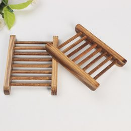 $enCountryForm.capitalKeyWord UK - Dark Wood Soap Dish Wooden Soap Tray Holder Storage Soap Rack Plate Box Container for Bath Shower Plate Bathroom