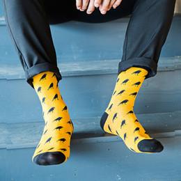 42fe3658e7d80 5 Pairs Lot Cartoon Crow Men Socks Casual Fashion Brand Cotton Sock Cheap  Meias Calcetines Hombre Cool Mens Colored Socks Art