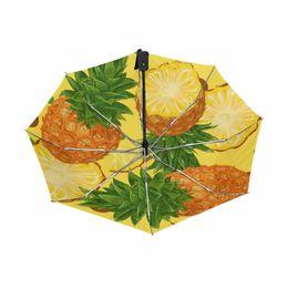 $enCountryForm.capitalKeyWord UK - Fashion Pineapple Pattern Sunny Rainy Black Coating Folding Full Automatic Brand Umbrella Men Women Kid Business Paragus Quality