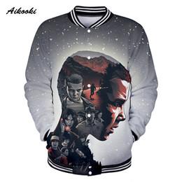 ac5bb065c stranger things tops 2019 - Aikooki Stranger Things 3D Jacket Women Men  Sweatshirt Jacket Girls Boys