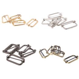 5pcs 2.5cm Metal Tri-glides Wire-formed Roller Pin Buckles Strap Slider Adjuster Wide Varieties Luggage & Bags
