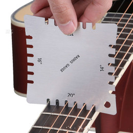 Guitar finGerboards online shopping - 4Pcs set Guitar Fingerboard Arc Measuring Ruler Professional Guitar Care Tool Toothed Arc Scale Stainless Steel Ruler