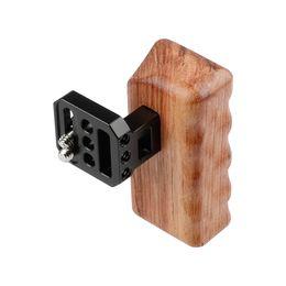 Handle Grip Camera Dslr Australia - CAMVATE Wooden Handle Grip (Left) for Panasonic GH Series