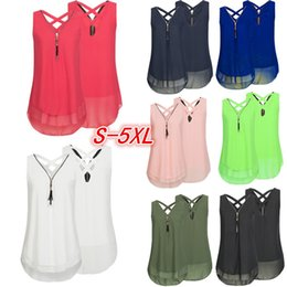 Women's Clothing 2019 New Style Blouse Women Streetwear Fashion Women Casual V-neck Sleeveless Plus Size Solid Lace Tank Tops Vest Camis Roupa Feminina #ce4