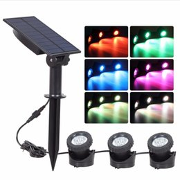Rgb solaR spot light online shopping - Solar LED Spot Light Outdoor Waterproof land Landscape Lighting Waterproof Spotlight Security Lamp for Garden Pool Pond Lawn Pathway