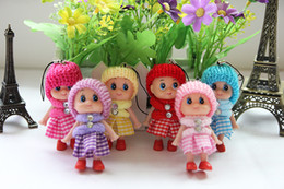 doll keychains for girls NZ - Cute Kids Toys Soft Interactive Baby Dolls Toy Key Chain, Mini Doll Keychain For Girls Key Ring Key Holder