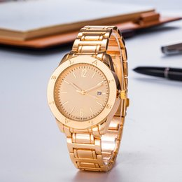 Japanese dress buckle online shopping - Men Stainless Steel Rose Gold AAA Brand Quartz Analog Watches New Luxury Japanese Movement Dressing Watch Couple Watches