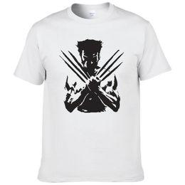 Ingrosso Maglietta degli uomini di X-Men Wolveriner T Shirt Uomo Estate in cotone stampato Supereroe manica corta T-shirt per uomo dimensione europea