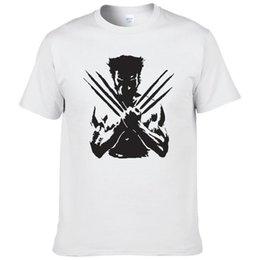 Venta al por mayor de X-Men Wolveriner camiseta de algodón de verano impreso camiseta de manga corta de superhéroe para hombres tamaño europeo
