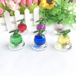 $enCountryForm.capitalKeyWord Australia - (18pcs Lot)FREE SHIPPING+Choice Crystal Collection Colorful Crystal Apple Figurines Birthday Party Souvenir Crystal Paperweight