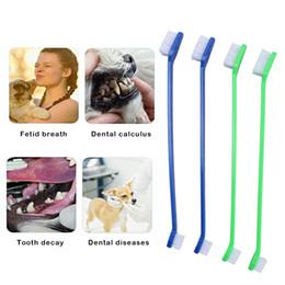 $enCountryForm.capitalKeyWord NZ - Pet Dog Soft Toothbrush Food Grade Material Pet Toothbrush Dental Care For Pet Supplies Cat Puppy Dog 4pc Set