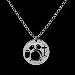 Necklace drum online shopping - European Fashion Ornaments Personality Originality Hollow Out The Shelf Drum Alloy Coin Necklace European Foreign Trade