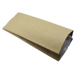 Wire Sealing Bags Australia - 100Pcs Lot Open Top Kraft Paper Aluminum Foil Bellows Pocket Bag Side Gusset Heat Seal Food Storage Packing Pouch Party Bags