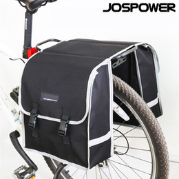 bike trunk bag NZ - JOSPOWER Mountain Road Bike Trunk Bags Cycling Double Side Rear Rack Tail Seat Pannier Pack Bicycle Luggage Carrier Accessory