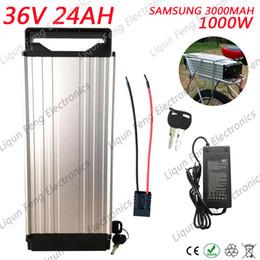 $enCountryForm.capitalKeyWord Canada - Imported Samsung 36V 24AH Rear Rack Battery High Power 1000W 36V 24AH Electric Bike lithium ion battery 30B Cells 30A BMS 42V 2A