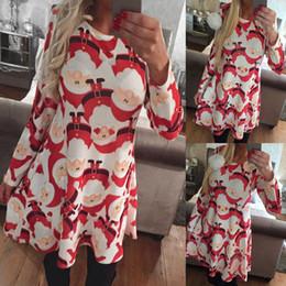 8eac64970190 Lady Summer Christmas Clothes Australia - 2018 Autumn Women Christmas Dress  5XL Plus Size New Year