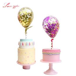 diy balloons 2018 - gift creative 1Set Creative Balloons Confetti Latex Balloon DIY Birthday Cake Topper Wedding Favors Birthday Party Decor