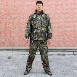 $enCountryForm.capitalKeyWord NZ - Bionic Hunting Suit Jacket & Pants Camouflage Ghillie Suit 3D Leaves Camo Windproof Breathable Hiking Hunting Jacket Hoody