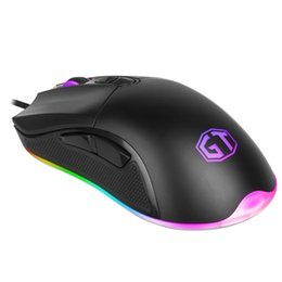 Wholesale Delux Gaming Mouse gamer mause gaming Colorful LED RGB Light Smooth Mouse Wheel Wired USB laptop computer sem fio