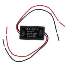 car strobe light controller 2019 - Newest Flash Strobe Controller Flasher Module For Flashing LED Back Rear Brake Stop Light Lamp 12--24V Car Accessories c