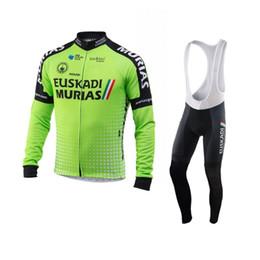 winter thermal fleece 2018 pro team euskadi green cycling jersey sets Ropa  Ciclismo racing bike clothing MTB Bicycle maillot gel 5db23a634