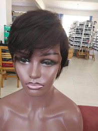 peruvian straight hair styles 2019 - Short Wigs Pixie Cut Short Hair Style Cuts Brazilian Human Short Bob Wig With Baby Hair Wholesale Lace Front Wig For Bla