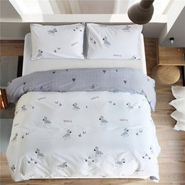 twin kids bedding set 2018 - 100% Coon Duvet Cover Set Boys Bed and Bedding Set Kids Bedding Linen Set Baseball Comforter Bedclothes US Queen for Tee