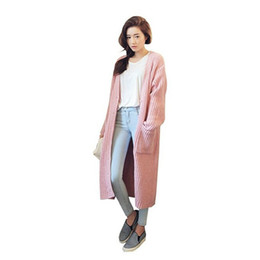 $enCountryForm.capitalKeyWord Canada - European Coat Of New Fund Of 2018 Autumn Outfit Loose Long Pink Sweater Cardigan Female LDK023