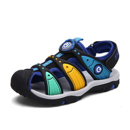 $enCountryForm.capitalKeyWord Canada - Insole Length 15-24CM 3-14 Years Children's Boys Sandals Summer Cut-outs Kids Canvas Rain Breathable Flats Shoes