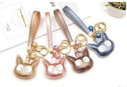 PU Cat Key Chain Accessories - Funny Cute Bell Cat Keychain Key Fob - Womens  Girls Car Keychains Jewelry Bag Charm dc6f4fcd47