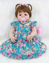 Reborn Silicone Toddlers Australia - Wholesale-55cm Full Body Silicone Reborn Girl Baby Doll Toys Realistic 22inch Newborn Princess Toddler Babies Doll Birthday Gift Present