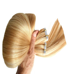 Discount tape hair extensions 18 613 - P27 613 Apply Tape Adhesive Skin Weft Human Hair Ombre Tape In Human,Hair Extensions Silver Grey Hair Extensions Blonde