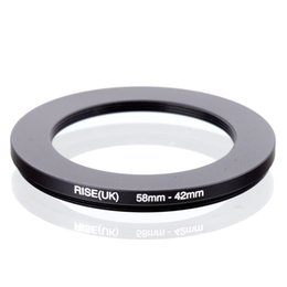Adapter Ring 58 Mm Australia - adapt clothes RISE(UK) 58-42 58MM - 42 MM 58 to 42 Step Down Ring Filter Adapter