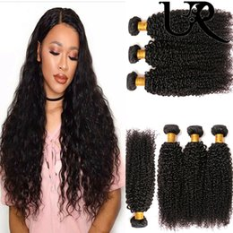 unprocessed curly mixed hair weave 2018 - URvenus Peruvian Hair Kinky Curly Wave 3 Bundles 8-26 inch Mix Length Unprocessed Virgin Human Hair Extensions Wholesale