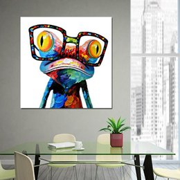 5b9bd896fdca Handpainted   HD Printed oil painting Abstract Animal Frog Wall Art High  Quality Home Decor On Canvas Multi Sizes Frame Options a62