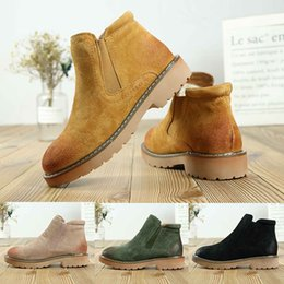 Wholesale 2019 High Quality WGG Leather Sheepskin Suede Australia Classic Brand Ankle Boots Black Green Fashion Womens girl Winter Snow Boots