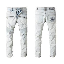 998ae202 Light jeans ripped men online shopping - Balmain clothing designer pants  slp blue black destroyed mens