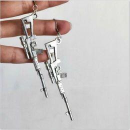 $enCountryForm.capitalKeyWord Australia - 12 pairs Fashion Cute Charms Street Style Cool Pistol Earrings Fun Dark Earrings Hip Hop Sniper Rifle Earrings Personality Tide Ear Jewelry