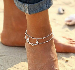 $enCountryForm.capitalKeyWord NZ - Meetcute Crystal Ankle Bracelet Number Anklets Silver Color Link Chain Bracelet On The Leg For Women Beach Wearing Foot Jewelry