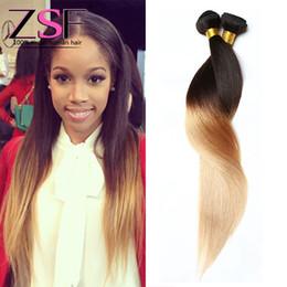 $enCountryForm.capitalKeyWord NZ - ZSF Best Price 8A Grade Indian Human Hair Extensions Ombre 1b 27# 2 Bundle Human Straight Hair Indian Virgin Hair