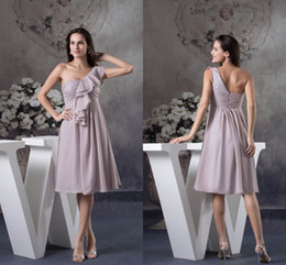 simple chiffon one shoulder wedding dress 2019 - Plus Size One Shoulder Mother Of Bride Dresses Sleeveless Ruffles Short Mother's Dresses Wedding Guest Evening Gown
