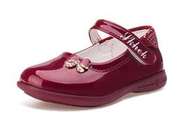 2d3c87638 Sapatos infantis Para Meninas Princesa Sapatos Arco Diamante Moda Bebê  Plano Com Meninas Sapato de Dança Sapatilha tamanho 26-35