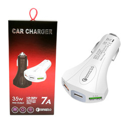 huawei qualcomm UK - Qualcomm 3.0 Car Charger Quick Charge Dual USB Car Charger with Type C Port Universal USB Charger For iphone Samsung Huawei